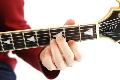 Finger position to perform F# augmented chord (F#+, F#aug)