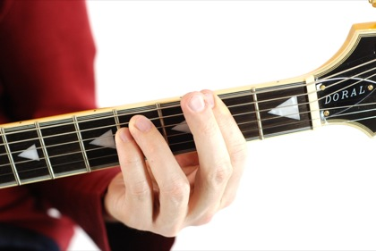 Finger position to perform Gb minor chord (Gbmin, Gb-, Gbmi)