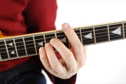 Finger position to perform D# suspended fourth chord (D#4, D#sus, D#sus4)