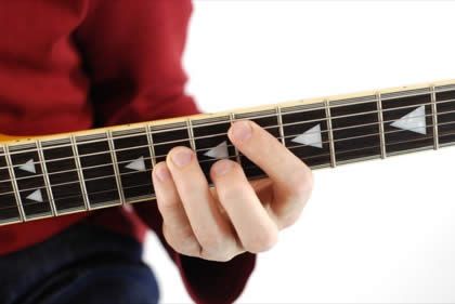 Finger position to perform Eb power chord (Eb5)