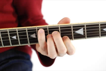 Finger position to perform Eb sixth chord (Eb6)