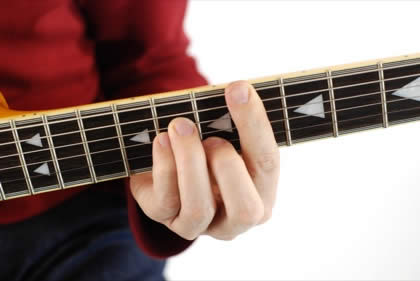 Finger position to perform Eb minor chord (Ebmin, Eb-, Ebmi)