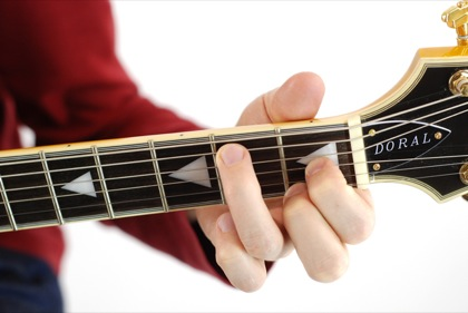Finger position to perform B diminished chord (Bdim, B°)