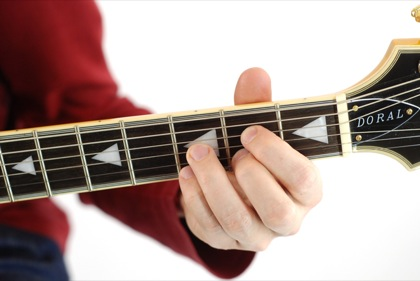 Finger position to perform G diminished chord (Gdim, G°)