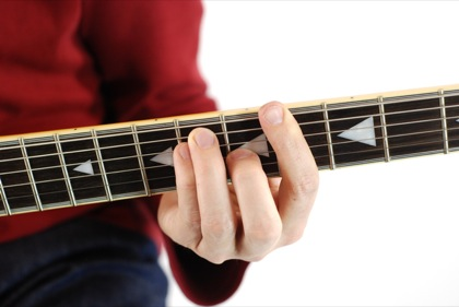 Finger position to perform G# chord