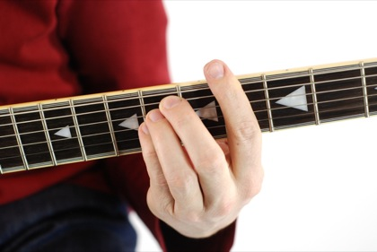 Finger position to perform G# suspended fourth chord (G#4, G#sus, G#sus4)