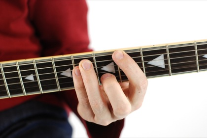 Finger position to perform Ab power chord (Ab5)