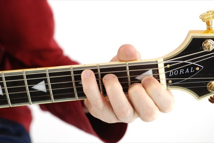 Finger position to perform Ab augmented chord (Ab+, Abaug)